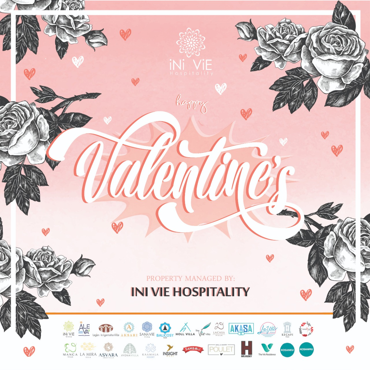 Happy Valentine's Day from Ini Vie Hospitality - Press Ini Vie Hospitality